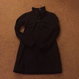 Jackets & Blazers - mondetta Microfiber Black Jacket Knee Length Small